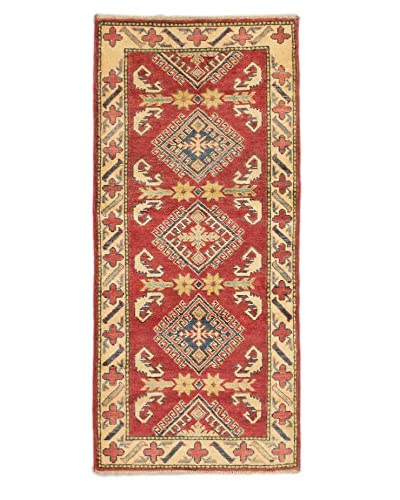 Hand-Knotted Finest Gazni Rug, Red, 2′ 4″ x 5′ 2″