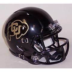 Buy Colorado Buffaloes Black Shell Riddell Speed Mini Football Helmet by Creative Sports