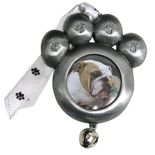 Gloria Duchin® Paw Photo W/Silver Glitter Christmas Ornament