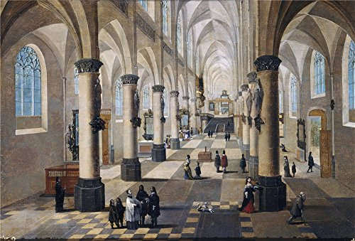 Polyster Canvas ,the Vivid Art Decorative Canvas Prints Of Oil Painting 'Francken III Frans Neefs Pieter I Interior De Una Iglesia En Flandes ', 18 X 27 Inch / 46 X 68 Cm Is Best For Dining Room Decoration And Home Gallery Art And Gifts
