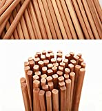 Mannice Chinese Natural Bamboo Hot Pot Chopsticks 10 Pairs Gift Sets 27cm Long Brown Lightweight Color1