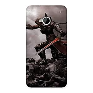 Cute Warrior Sword Multicolor Back Case Cover for HTC One M7