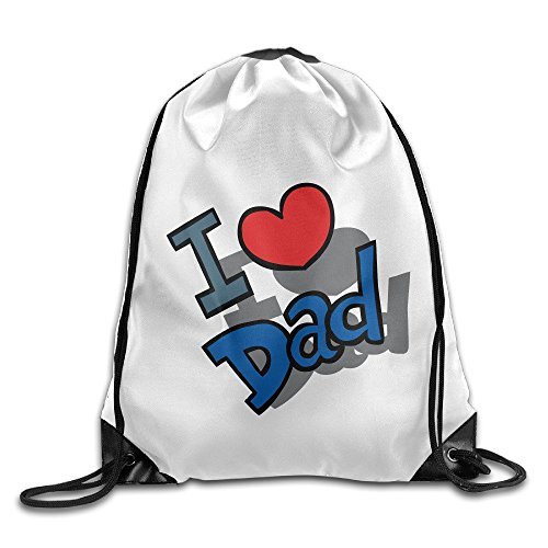VOLTE I Love Dad Drawstring Bags Camper White Backpack Sport Bag For Men & Women School Travel Backpack For Teens College (Camper Hiking Boots compare prices)
