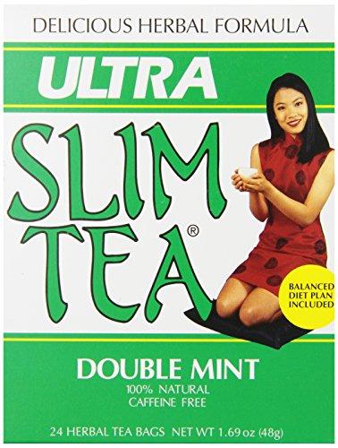 Ultra Slim Tea, Double Mint, Tea Bags, 24 Count Box