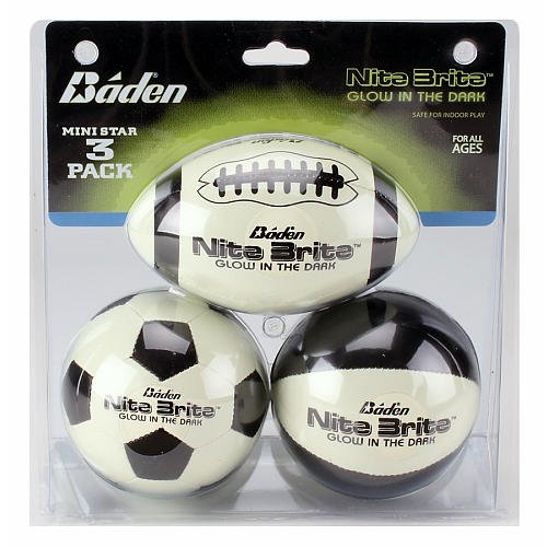 Baden Nite Brite Glow in the Dark Mini Star (Nite Brite Football compare prices)