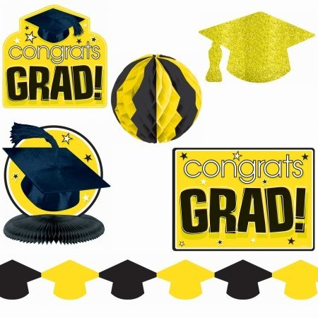 Congrats Grad Yellow Decorating Kit