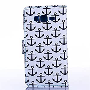 GENERIC Anchors Pattern PU Material Card Full Body Case for Samsung Galaxy Alpha #03964320