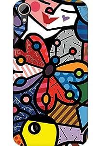 AMEZ designer printed 3d premium high quality back case cover for HTC Desire 828 (art)
