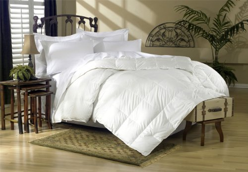 1200 Thread Count California King 1200TC Siberian Goose Down Comforter 750FP, White Solid 1200 TC