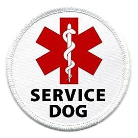 Medical Alert SERVICE DOG Symbol 4 inch Sew-on Patch