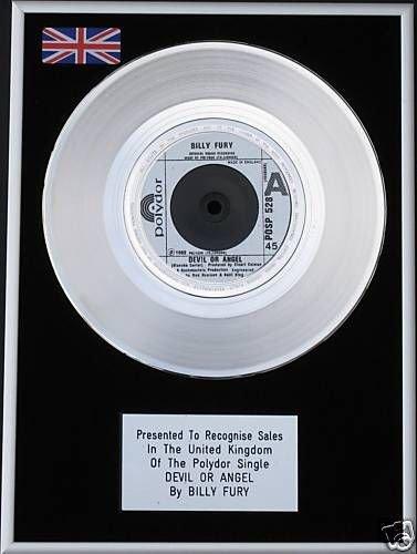"Billy Fury-17,78 cm (7"") Platinum CD-Devil o angelo"