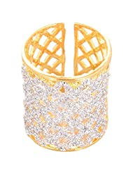 Creation Jewellery Gold Rodium Plated Gold Plated Clip-On Ring For Women - B00Z9URPQS