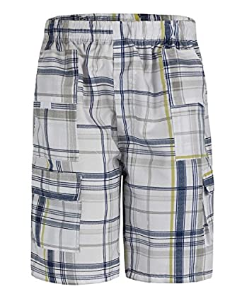 Boys Checked Shorts L-45 in Yellow 3-4 Years