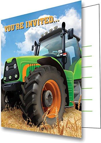 16 teiliges einladungskarten set traktor f r den. Black Bedroom Furniture Sets. Home Design Ideas