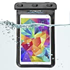 MoKo Universal Waterproof Case for iPad Mini (Retina), Google Nexus 7 (FHD), ASUS Nexus 7, Samsung Galaxy Tab 2 /3 / 4 7.0 8.0, Tab S 8.4, Tab Pro 8.4, LG G Pad 7.0 / 8.0 / 8.3, Tab 3 Lite 7, Note 8, Dell Venue 7.0 / 8.0 / 8.0 Pro, Acer Iconia A1-810, MeMO Pad HD7, Lenovo Tab A7, ASUS ME173X and Other Tablets up to 8.4 - IPX8 Certified, BLACK