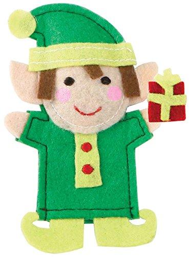 C.R. Gibson Jill McDonald Felt Elf Finger Puppet