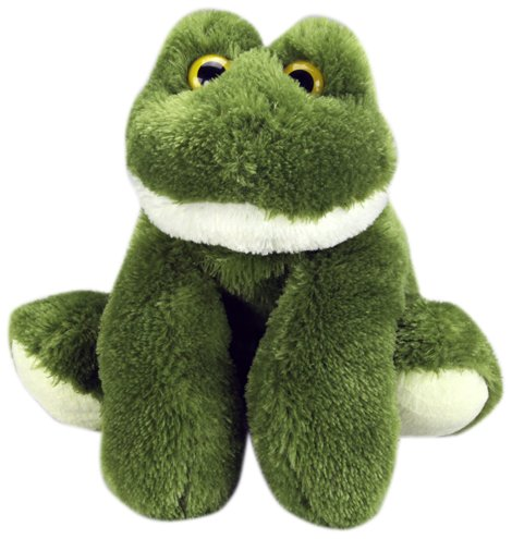 "Purr-Fection Lilly Junior Snuggle Ups Frog 8"" Plush - 1"