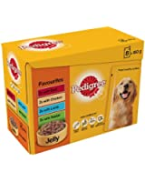 Pedigree Pouch Jelly Favourites 8x150g pk (pack of 4, total 32 pouches)