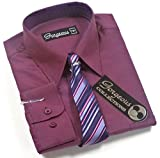 Gorgeous Collection - Camisa - para niño Morado ciruela