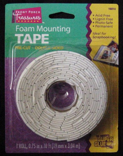 New Foam Mounting Tape Double Sided 1 roll 0.75 in x 10 ft