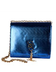 Young & Forever Blue Bling Satchel Handbag For Women By CrazeeMania