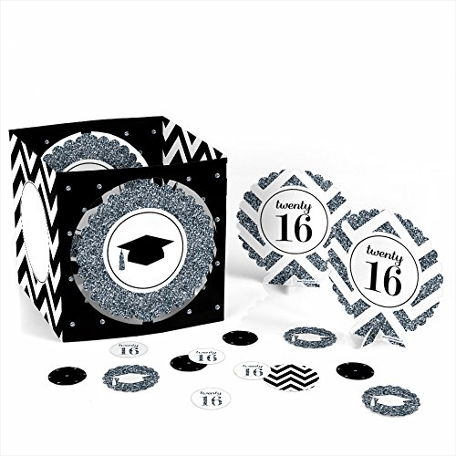 Tassel Worth The Hassle - Silver - Graduation Party Table Decorating Kit