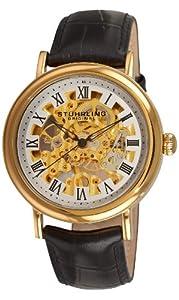Stuhrling Original Men's Classic Delphi Macbeth Mechanical Skeleton Gold Tone Watch - 313A.333531