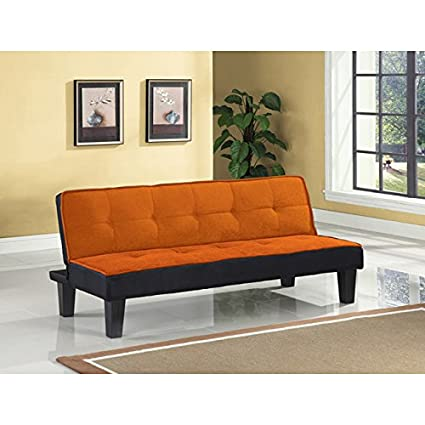 Metro Shop Hamar Orange Adjustable Sofa--