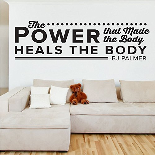 The Power That Makes The Body Heals The Body - 0127, B.J. Palmer, D.C Quote, Chiropractic, Power, Body, Fitness Room Decor, Wall Art, Decal