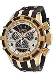 Invicta 17467 Men's Bolt Reserve Chrono Black Polyurethane Black Carbon Fiber Dial Gold-tone Case