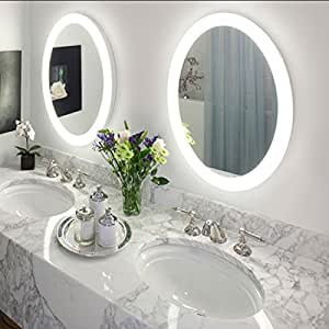 round led lighted wall mount bathroom mirror sol wit. Black Bedroom Furniture Sets. Home Design Ideas