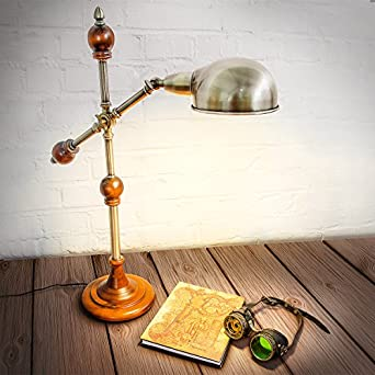 Stehlampe im Jugendstil-Design massiv Deko Messing-Optik ca 6,1 kg verstellbar