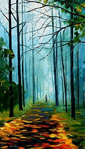 Summer Forest Modern Canvas Art Wall Decor Palette Knife Oil Painting Wall Art 20 X 36 In Unframed