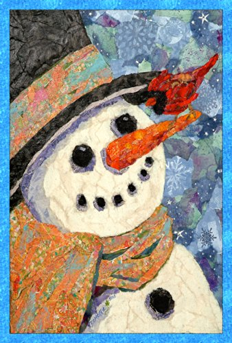 Toland Home Garden Snowman and Cardinal 12.5 x 18-Inch Decorative USA-Produced Garden Flag