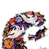 Dona Gelsinger Best Witches Halloween Wreath with Eerie Lights and Spooky Sounds by The Bradford Exchange