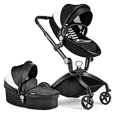 Hot Mom® Upgraded Limited Version Pushchair 2016, 3 in 1 Baby Stroller Travel System With Bassinet Black (Blue) by Zhongshan Virgin Mary Commodity Co. , Ltd that we recomend individually.