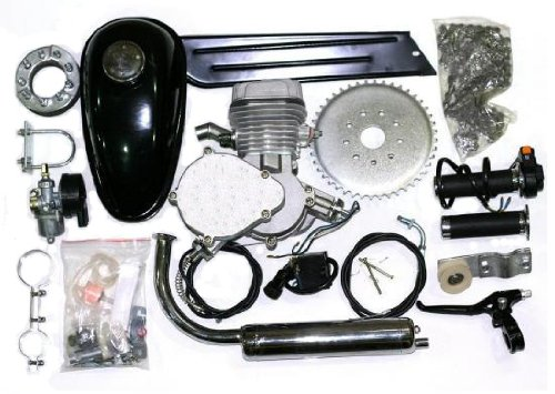 PK80 - 80cc 2-Cycle Bike Engine Motor Kit with Angle Fire Slant Head for High Performance Bicycle