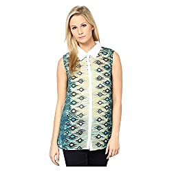 Kaxiaa Polyester Green Top For Women (Size-X-Large)