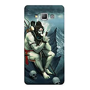 Premium Om Shiva Multicolor Back Case Cover for Galaxy A7