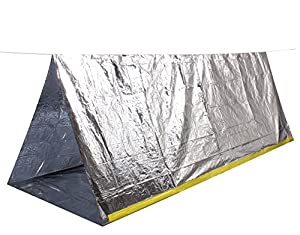 Wealers 2 Person Emergency Survival Cold Weather Protection Thermal Reflective Shelter Tent