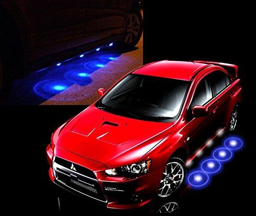 【 足元をオシャレにライトアップ 】 汎用 こだわりイルミ アンダー スポット LED ライト デイライト 外装 カスタム パーツ 車用 12V (ブルー)