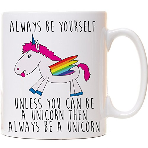 Always Be Yourself Unless You Can Be a Unicorn, unicorno divertente tazza per tè, caffè tazza in ceramica