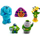Disney Exclusive Deluxe Monsters Inc Monsters University Figure Set Bath Pool Toys with Mike, Sulley, Art and More!