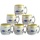 6 Pieces Tea Cup Set | Tea/Coffee Cup Set Of 6