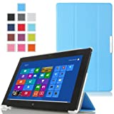 MoKo Ultra Slim Lightweight Smart-shell Stand Case For Lenovo Thinkpad 2 10.1 Inch Windows 8 Tablet BLUE (with...