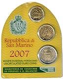 Mini serie de monedas regulares San Marino 2007 - Flor de Cuño