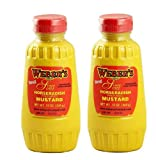 2-pack Bundle 12 Oz. Webers Horseradish Prepared Mustard Squeeze Bottle (2) 12 Oz. Containers