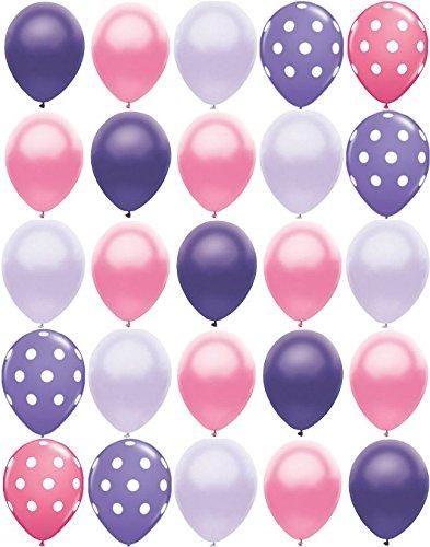 25ct Polka Dot PRINCESS MIX Pearl Purple & Pink 11