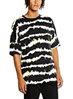 Cheap Monday Camiseta Manga Corta Crash Tee Nuclear Stripe (Negro / Blanco)