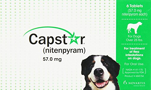 Capstar Nitenpyram Dog Cat Flea Control Treatment for Pets 25 Lbs and Over (Capstar Flea Control compare prices)